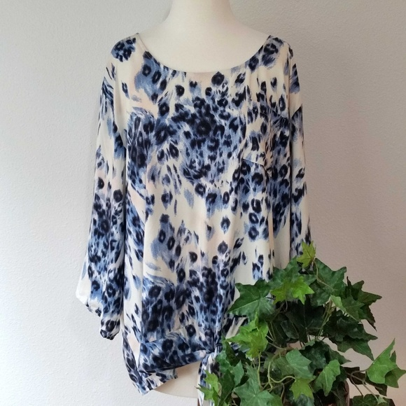 8e2d50ee882011 Cato Tops | Woman Leopard Print Scoop Neck 34 Sleeve Top | Poshmark